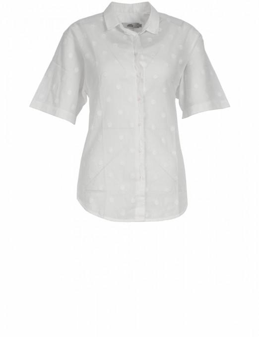 0039 Italy bluse halbarm weiß