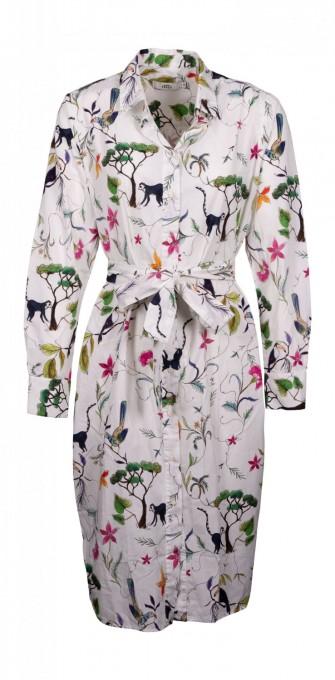 0039 Italy Blusenkleid Tijana bunt/weiß