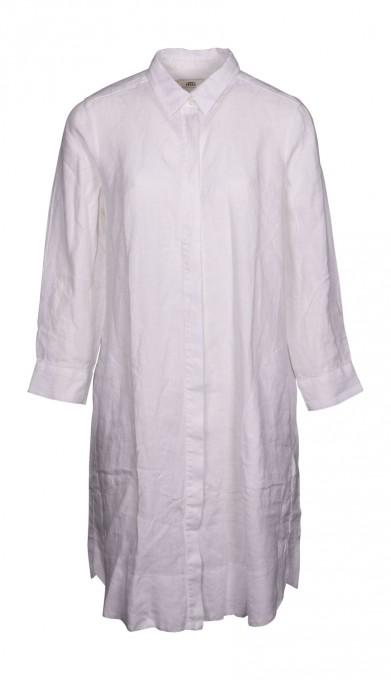 0039 Italy Damen Kleid Gracia new aus Leinen weiß