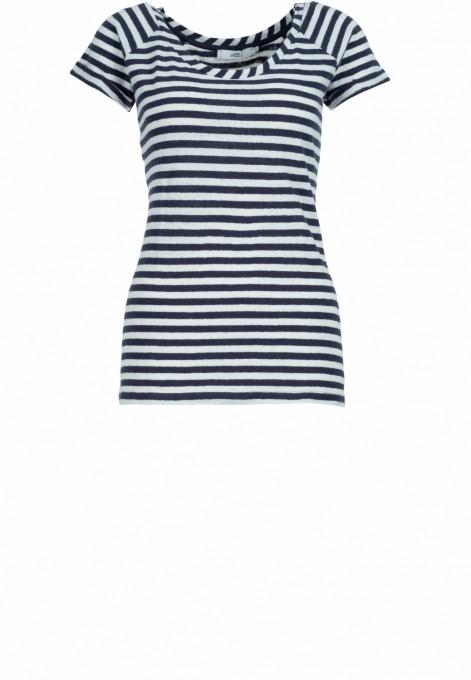 0039 Italy Damen Shirt Amalia blau gestreift