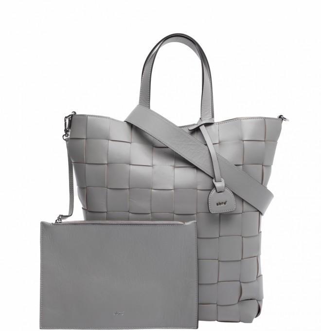 Abro Damen Shopper Chessboard light grey