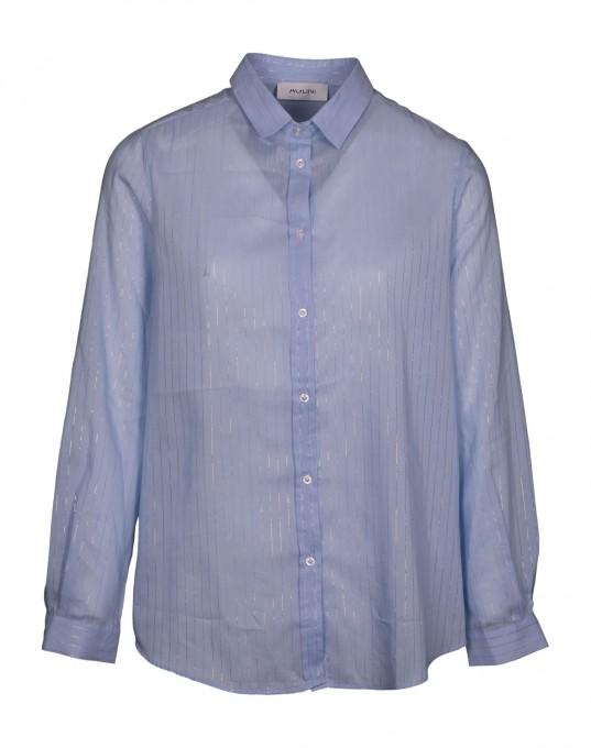 Aglini Damen Hemdbluse Selenite hellblau