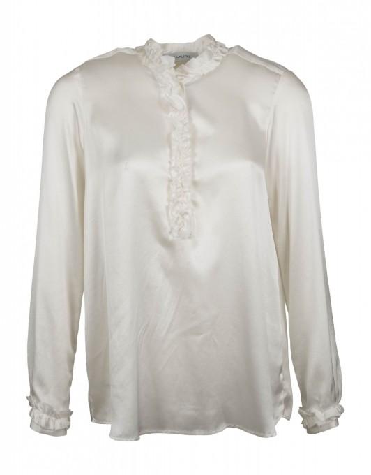Aglini Damen Seiden-Bluse Manuela crème