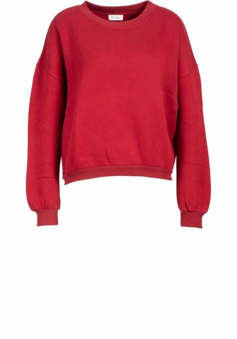 American Vintage Damen Sweatshirt Ikatown baie rot