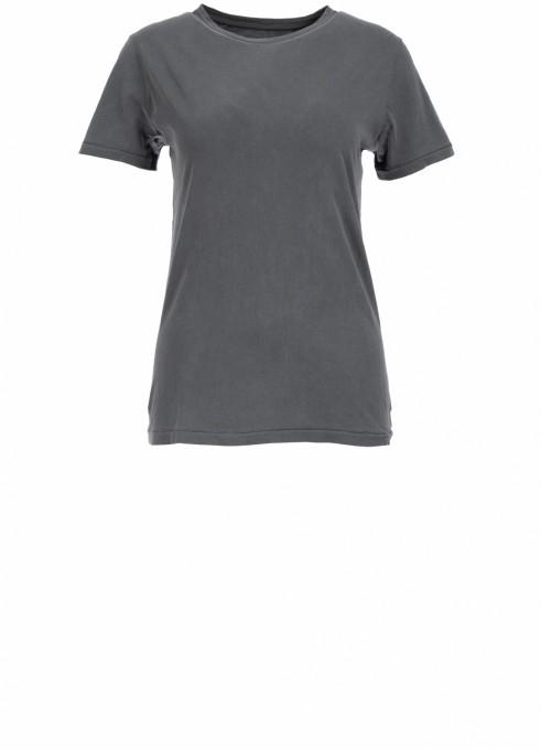 American Vintage Damen T-Shirt Vegiflower aus Öko-Baumwolle grau