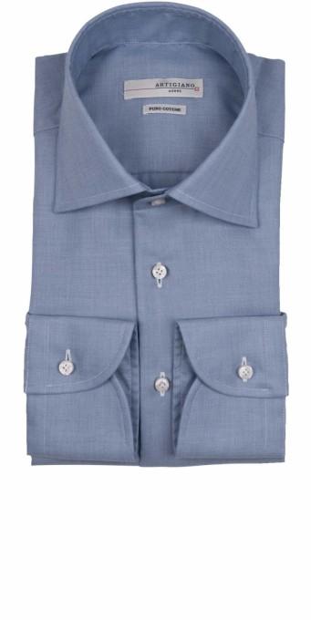 Artigiano Coimbra Baumwoll Herren Hemd Blau