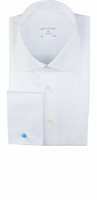 Artigiano Coimbra Baumwoll Herren Hemd weiß