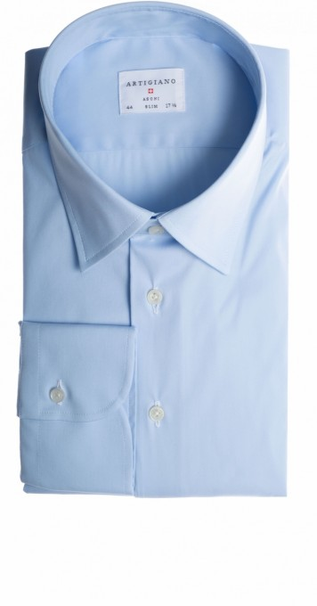 Artigiano hemd stark tailliert hellblau