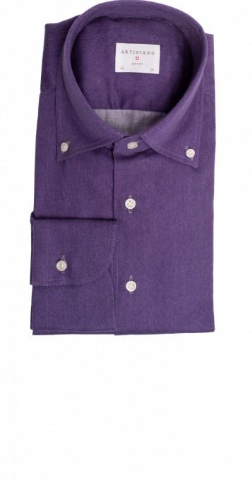 Artigiano Herrenhemd Riba uni lilac