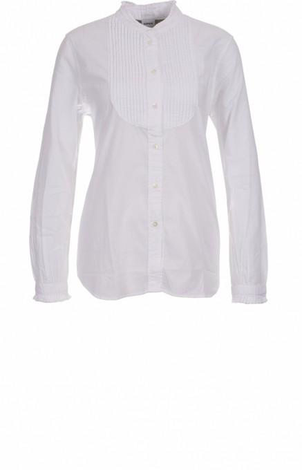 Aspesi Chambray-Bluse weiß