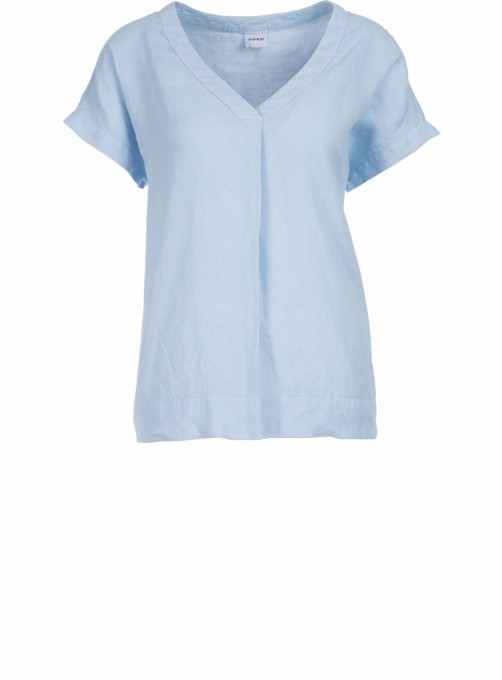 Aspesi Damen Blusenshirt aus Leinen hellblau