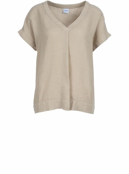 Aspesi Damen Blusenshirt aus Leinen sand