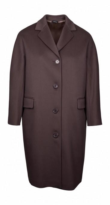 Aspesi Damen Mantel aus Wollfries cement