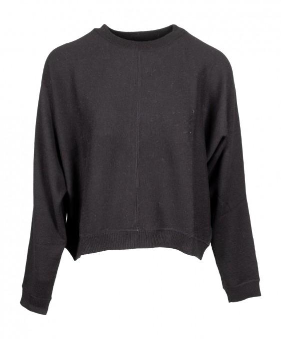 Aspesi Damen Pullover aus Merinowolle schwarz