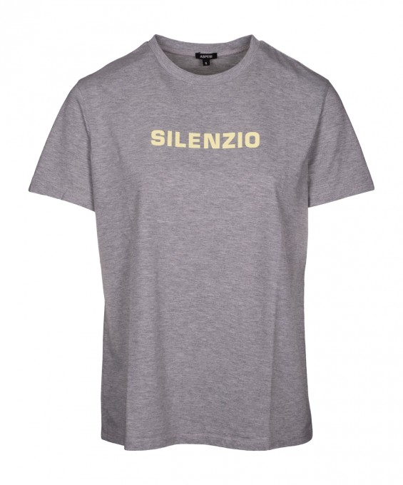 Aspesi Damen T-Shirt Silenzio grigio grau