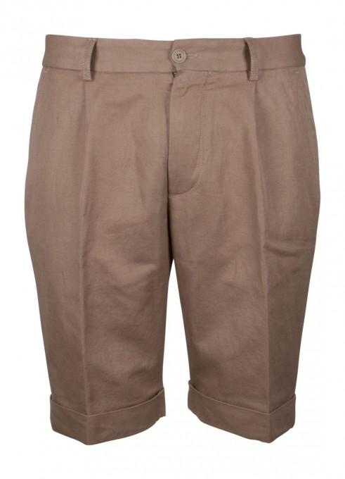 Aspesi Elegante Shorts mit Leinenanteil beige
