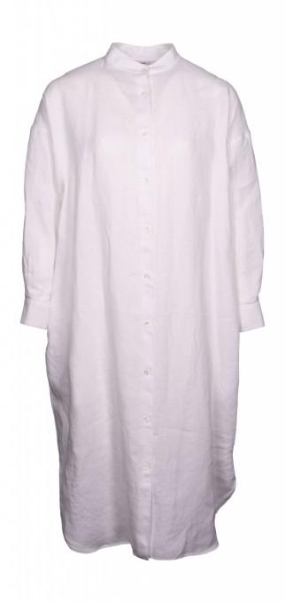 Aspesi Hemdkleid aus Leinen weiß