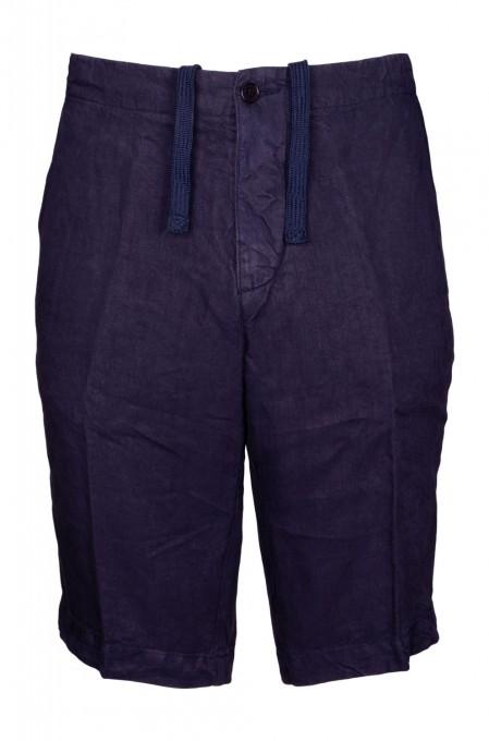 Aspesi Herren Bermudashorts aus Leinen blau