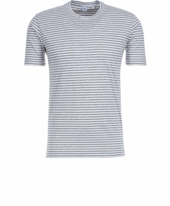 Aspesi Herren T-Shirt gestreift grigio grau