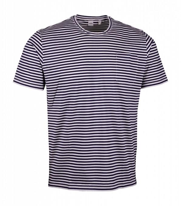 Aspesi Herren T-Shirt gestreift navy blau