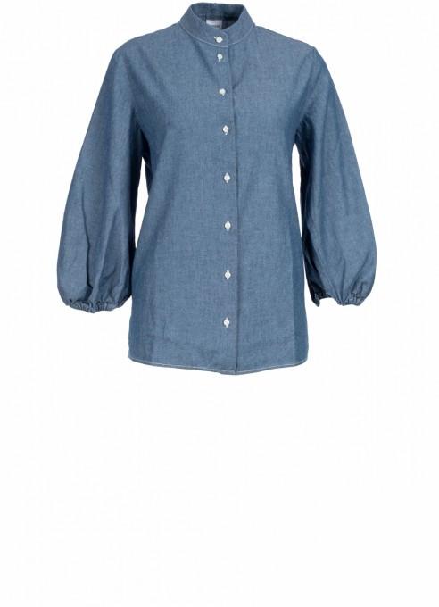 Aspesi jeansbluse blau