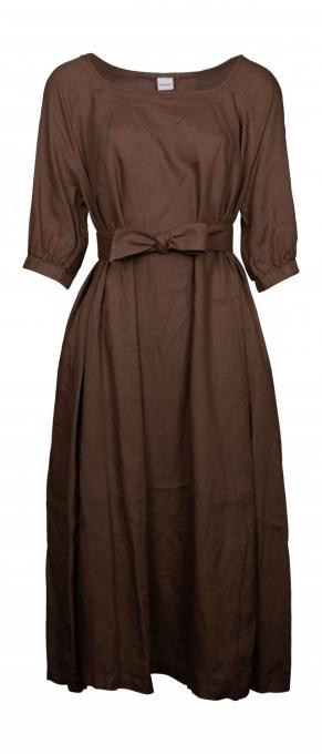Aspesi Kleid aus Leinen tabacco braun