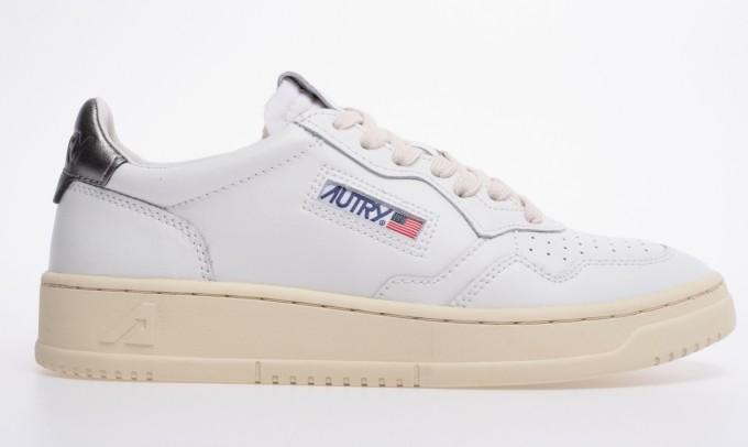 Autry Damen Sneaker Medalist Low weiß/silber