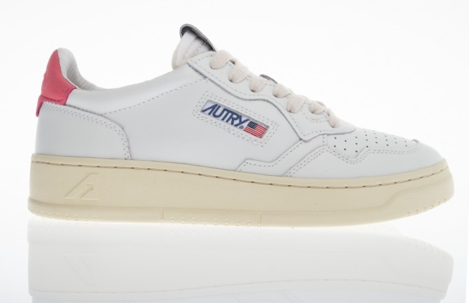 Autry Damen Sneaker Medalist Low weiß/rosa