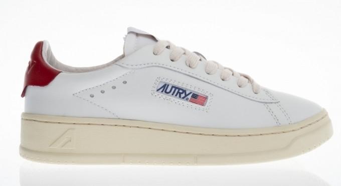 Autry Damen Sneaker Medalist Low weiß/rot
