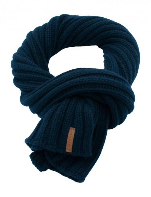 Baldessarini Herren Schal aus Wolle/Kaschmir blau