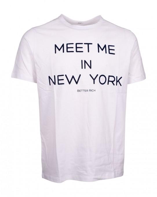 Better Rich Herren T-Shirt Crew NY Weiß