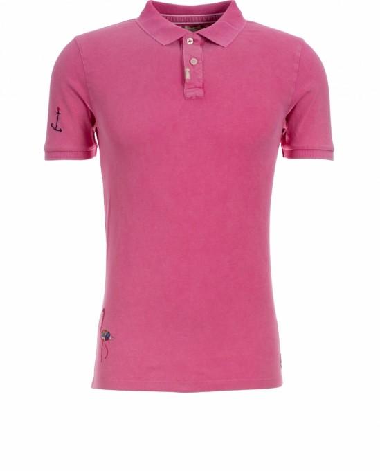 Bob Herren Polo Led strawberry pink