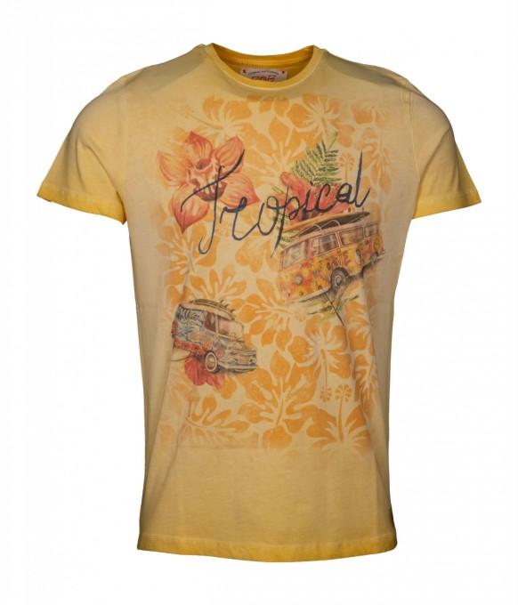 Bob Herren T-Shirt Hell Giallo