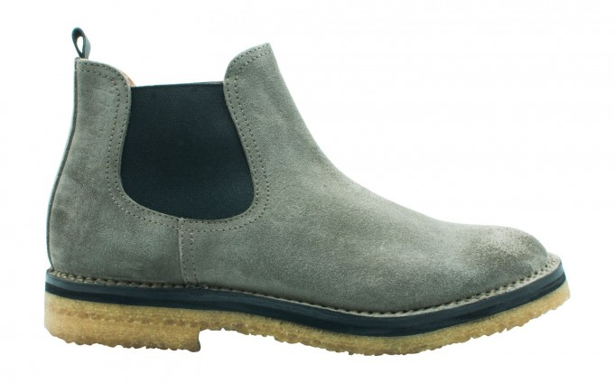 Buttero Chelseyboot aus Wildleder taupe