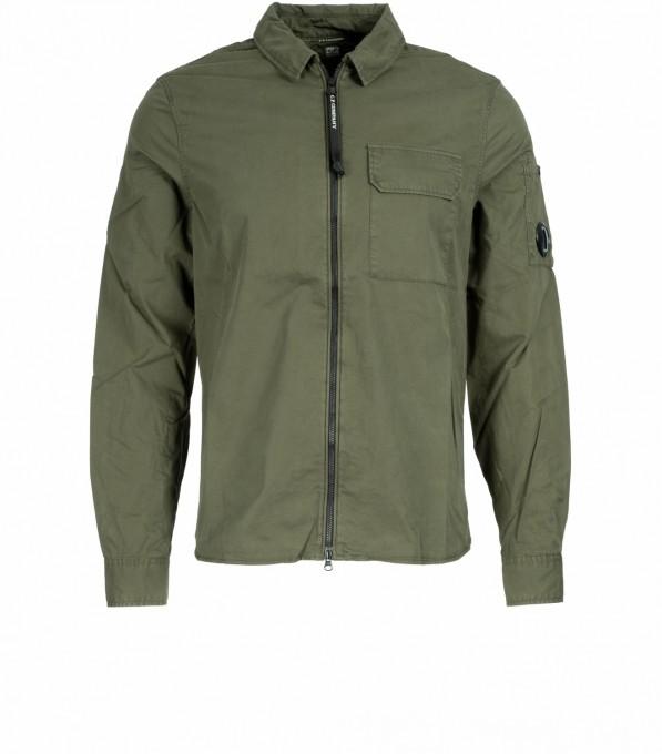 C.P. Company Herren Hemdjacke aus Gabardine oliv