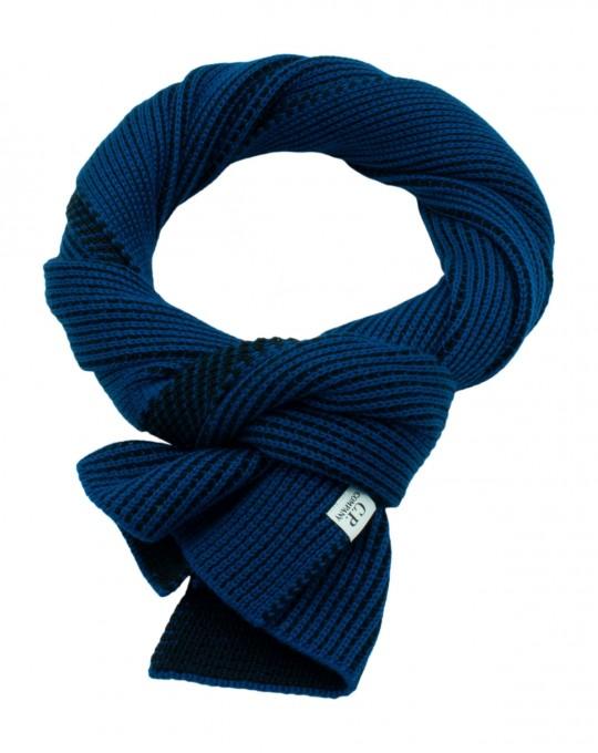 C.P. Company Herren Jacquard-Schal denim blau