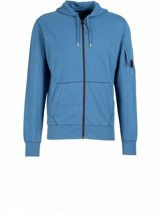 C.P. Company Herren Kapuzensweater Light Fleece blau