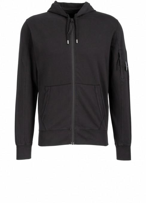 C.P. Company Herren Kapuzensweater Light Fleece schwarz