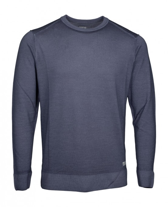 C.P. Company Herren Pullover Fast Dyed Merino blaugrau