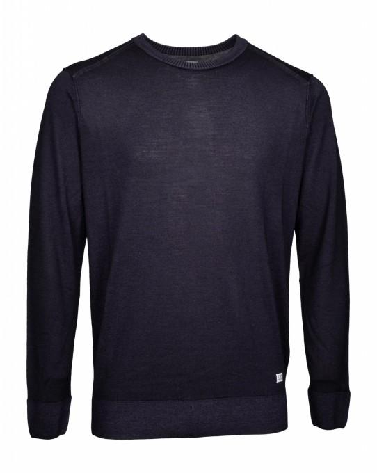 C.P. Company Herren Pullover Fast Dyed Merino dunkelblau