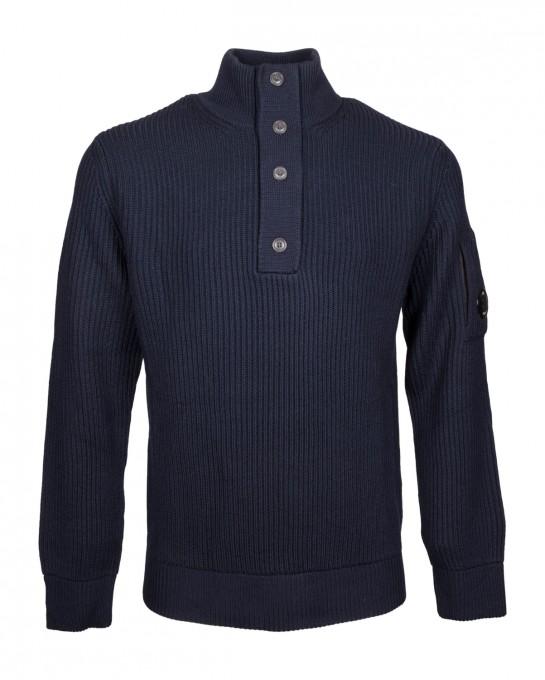 C.P. Company Herren Pullover Total Eclipse blau