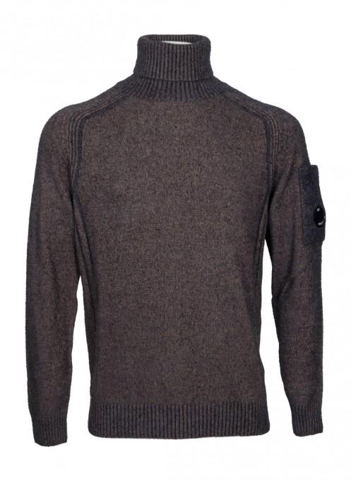 C.P. Company Herren Rollkragenpullover Fleece Knit Lens ivy green