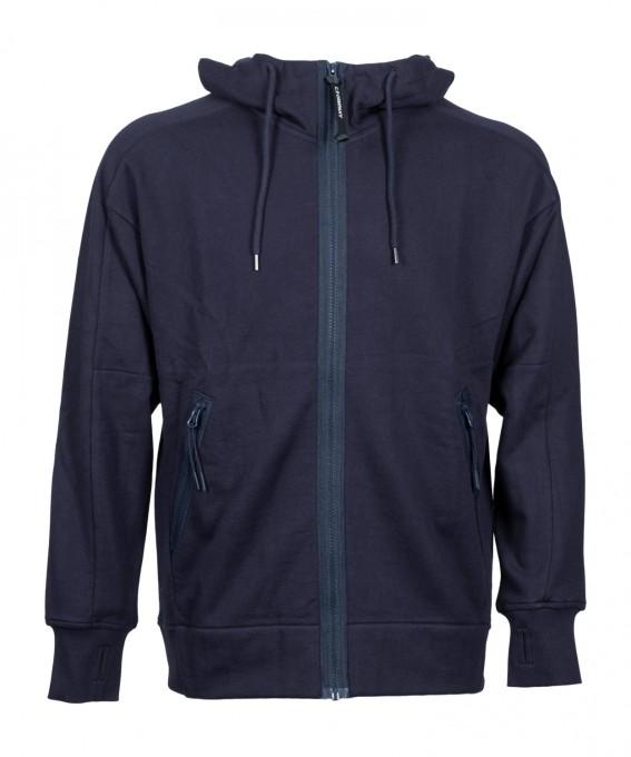 C.P. Company Herren Sweatjacke Diagonal Raised Fleece blau