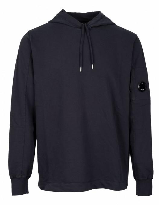 C.P. Company Herren Sweatshirt Garment Dyed Light Fleece total eclipse blau
