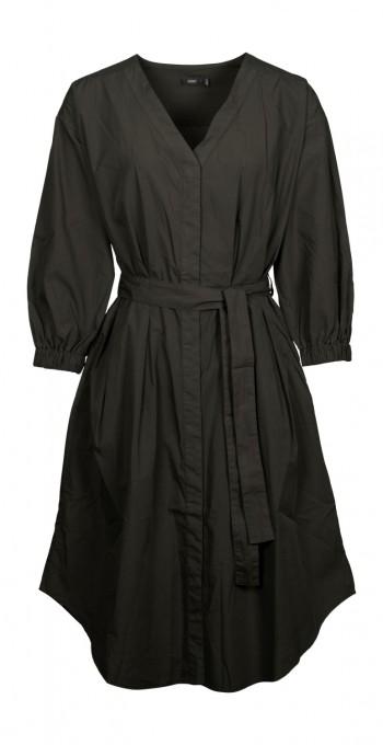 CLOSED Blusenkleid aus Popeline shadow green