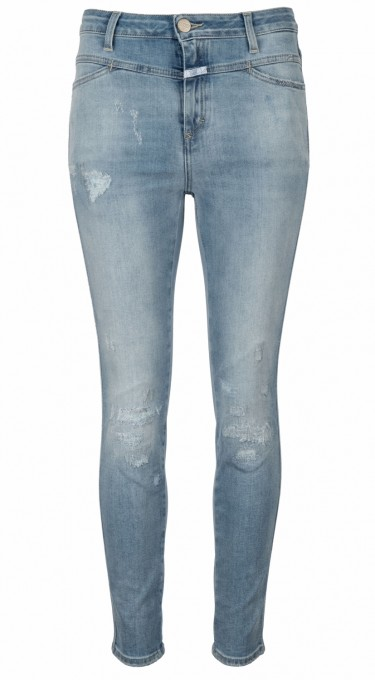 CLOSED Damen Jeans Skinny Pusher mid blue