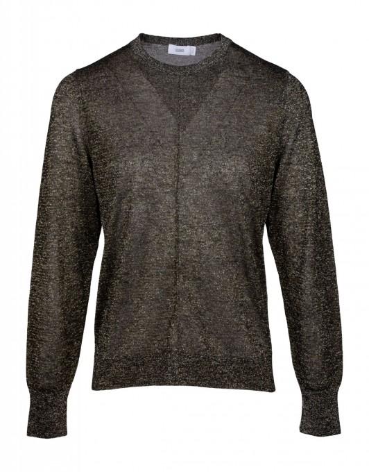 CLOSED Damen Metallic-Pullover Sea Tangle