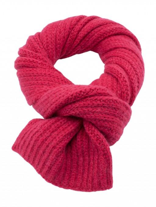 CLOSED Damen Strickschal 90808 ruby pink