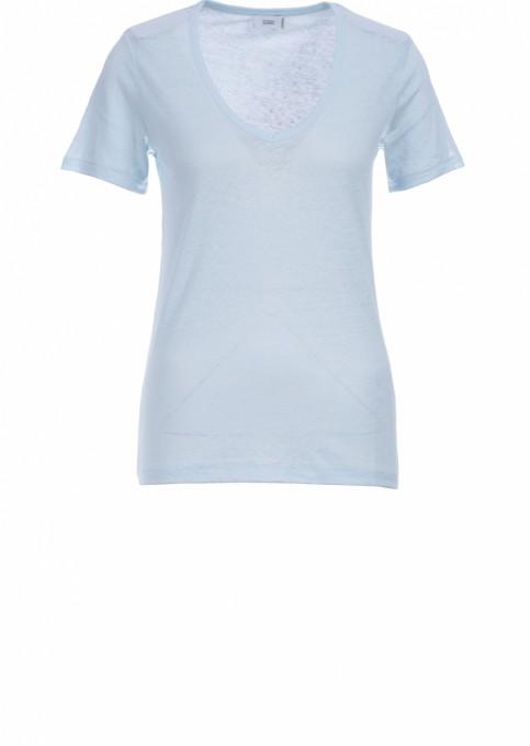 CLOSED Damen T-Shirt aus Leinen frosted mint