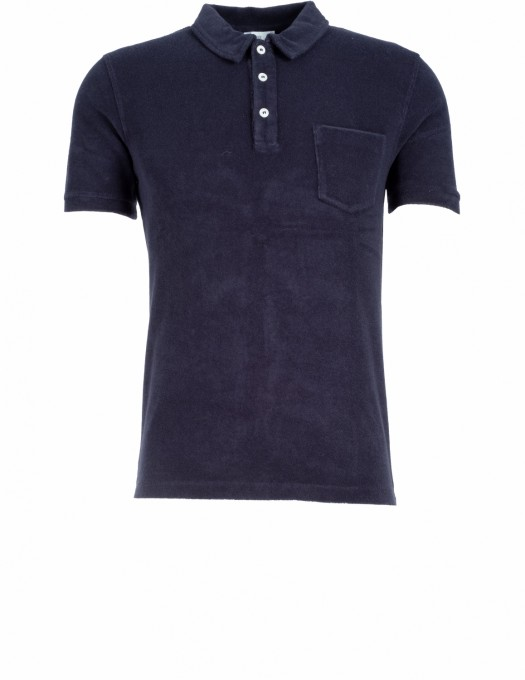 CLOSED polo frottee blau